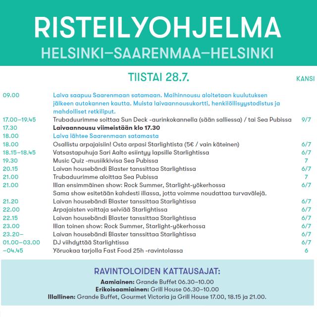 Päivä Saarenmaalla -risteily Helsingistä