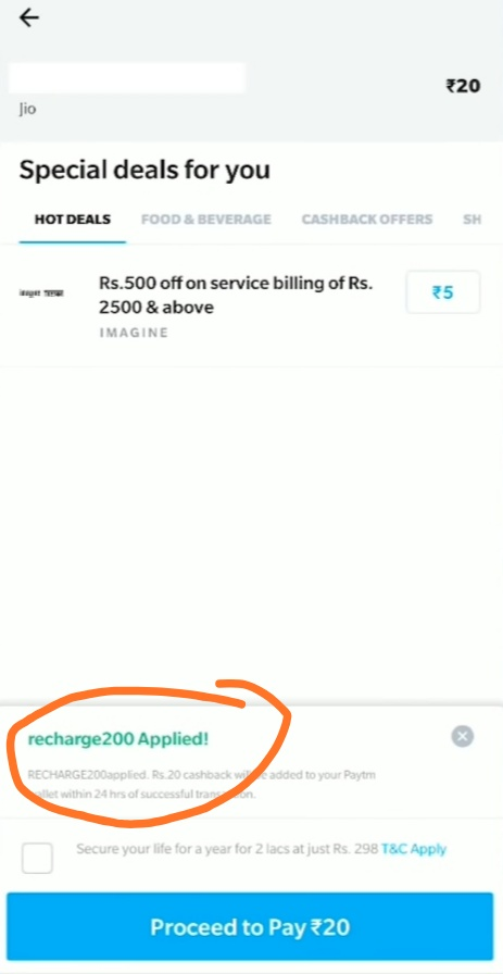 Today Free Recharge tricks: Best Mobile Recharge 100 % cashback up to 20