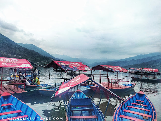 Colourful boats dancing in Phewa lake
