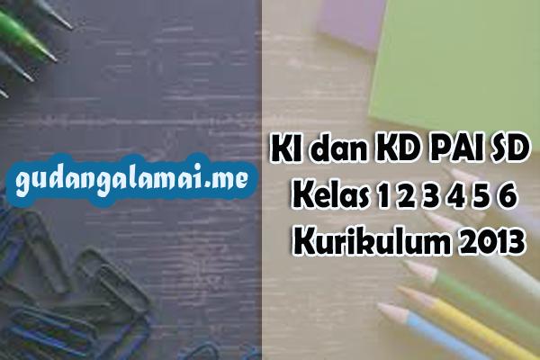 KI dan KD PAI SD Kelas 1 2 3 4 5 6 Kurikulum 2013