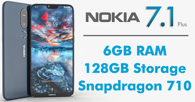 Nokia 7.1 Plus To Feature 6GB RAM, 128GB Internal, Snapdragon 710 SoC
