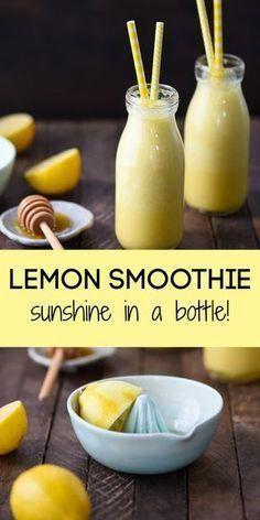 Best Lemon Smoothie Sunshine in a Bottle