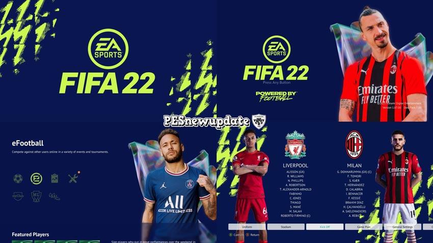 Menu Mod FIFA 22 Green Edition For eFootball PES 2021