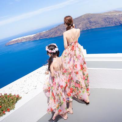 Váy maxi mẹ và bé gái M290