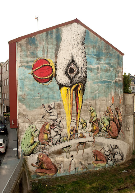 Ericailcane Mural In Ordes Spain