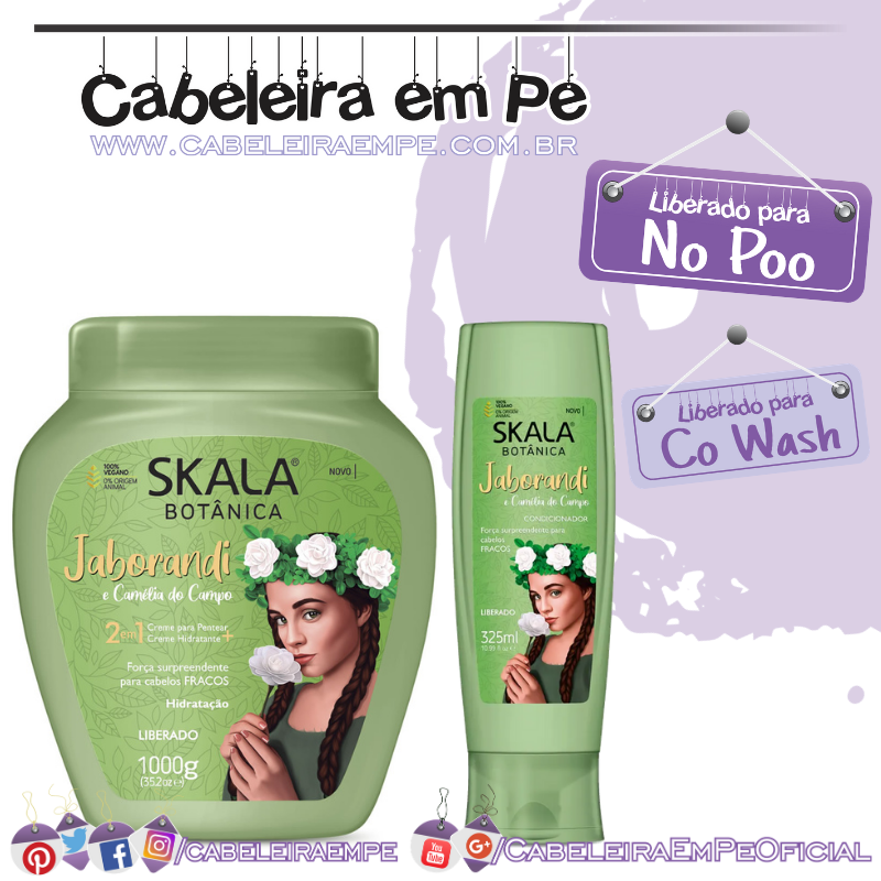 Condicionador e Creme de Tratamento Jaborandi - Skala (No Poo e co wash)
