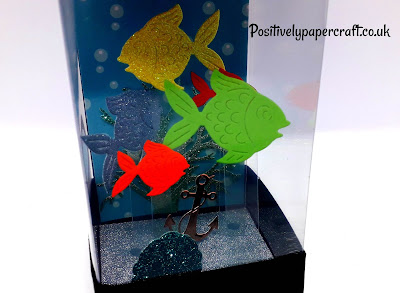 mini fish tank tutorial, papercrafts,