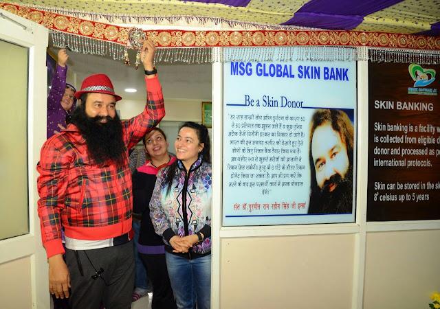 Saint Dr. Gurmeet Ram Rahim Singh Ji Insan inaugurated North India's First Skin Bank in Dera Sacha Sauda Sirsa