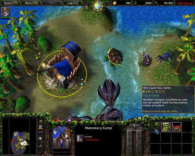 Mercenary Camp Screenshot | Warcraft 3: The Frozen Throne