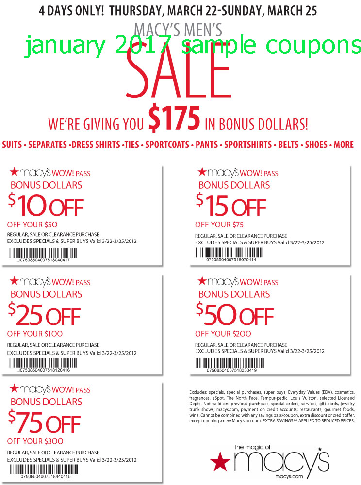 Save at Macy's with promo codes and coupons including EXTRA 25% OFF, $10 Macy's gift card, free shipping and much more.