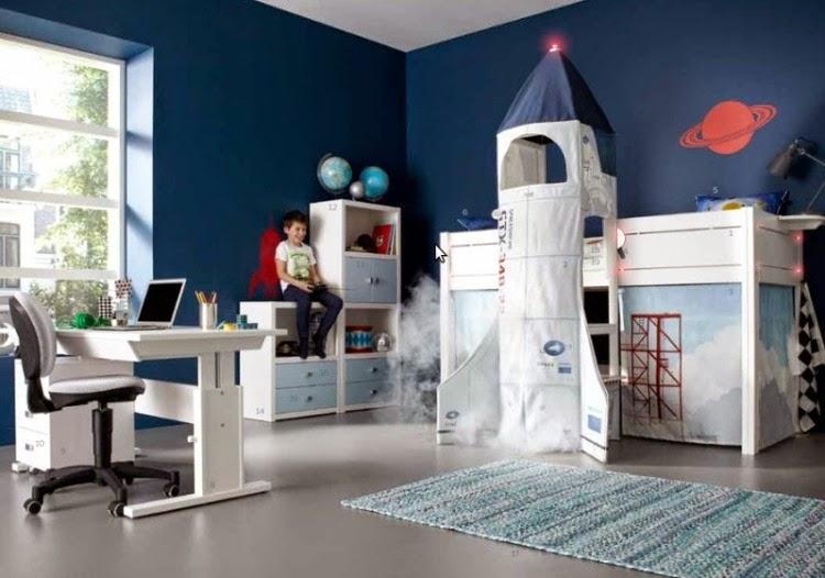 Dormitorios decorados para ni o color azul ideas para for Cuartos decorados azul