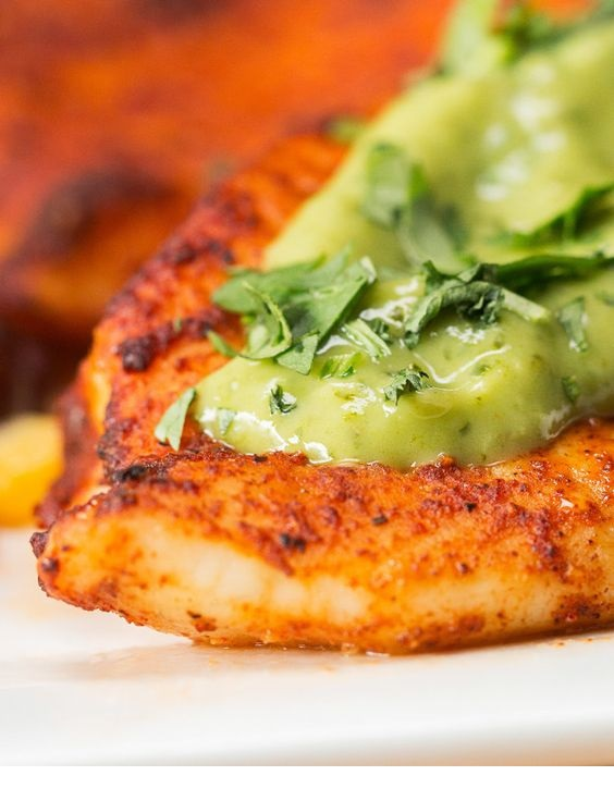Chili Lime Baked Tilapia With Avocado Crema
