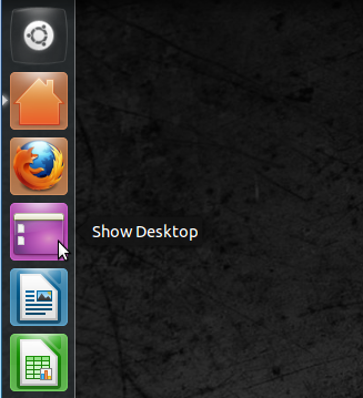 How To Add A 'Show Desktop' Button To The Unity Launcher Of Ubuntu