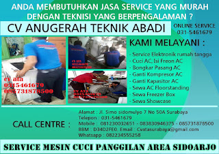 Service Mesin Cuci Panggilan Area Sidoarjo