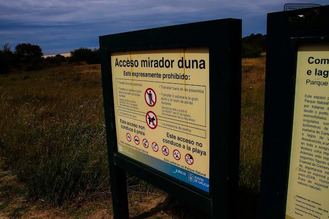 Prohibido entrada de Perros a las Dunas de Corrubedo