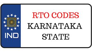 RTO codes in Karnataka State