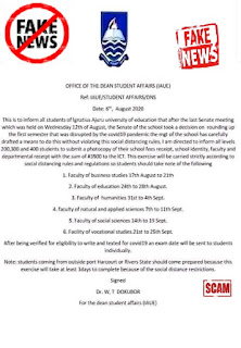 IAUE Disclaimer on Suspended 1st Semester Exams 2019/2020