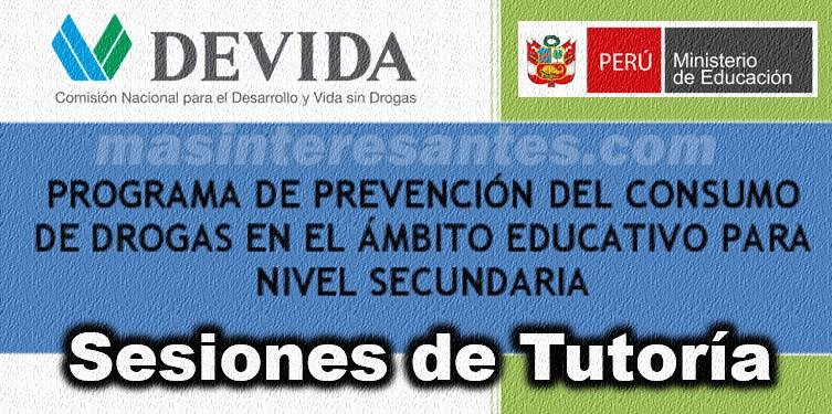 Sesiones de Tutoría para la prevención del Consumo de Drogas