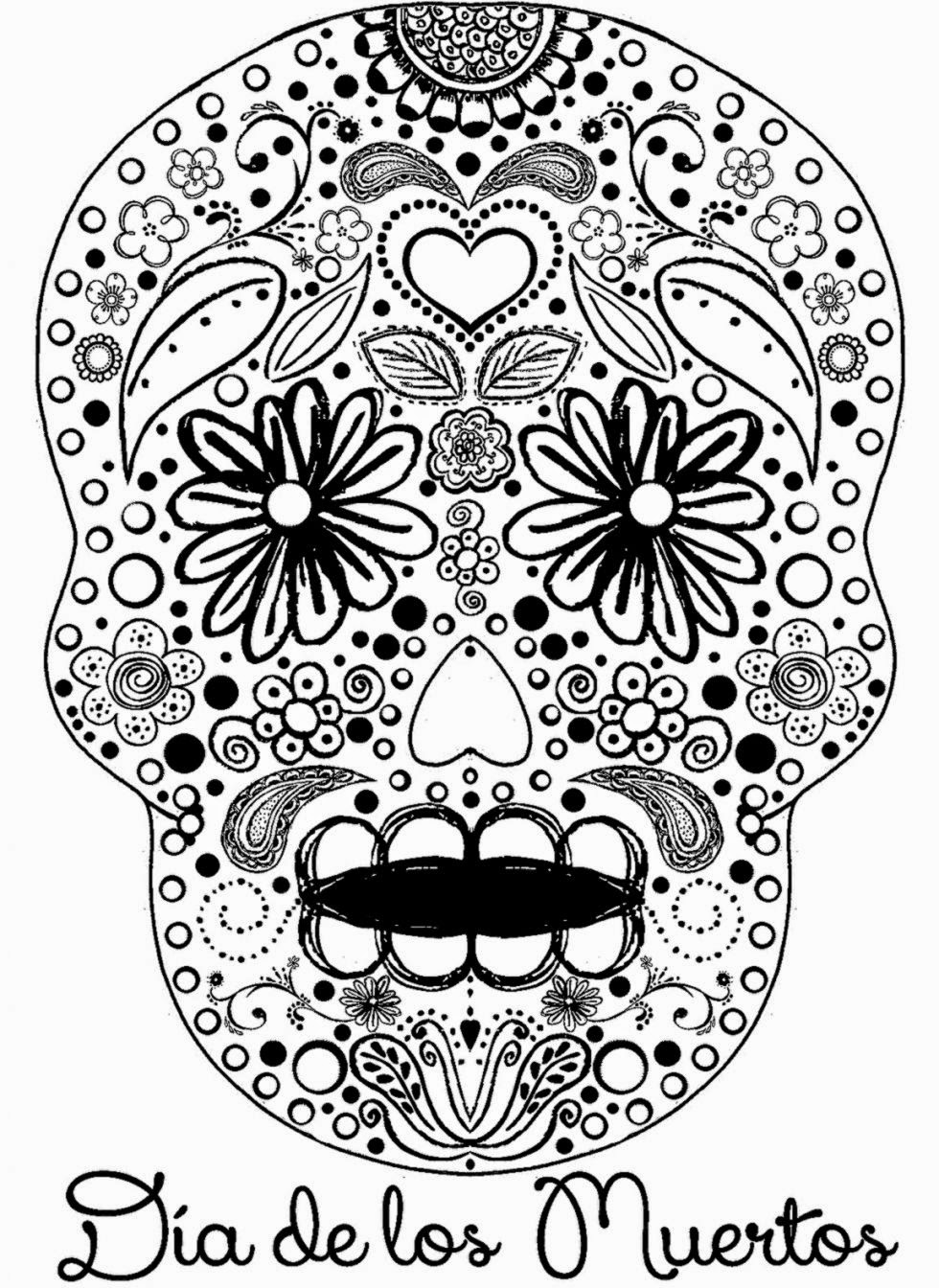 worksheet Day Of The Dead Worksheets day of the dead coloring pages coloringpages4kid
