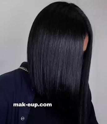 تسريحة الشعر الاسود الداكن