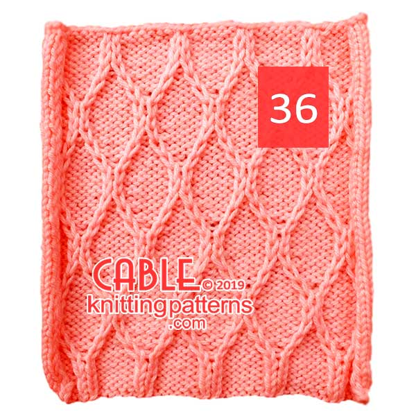 Cable Knitting Pattern 36