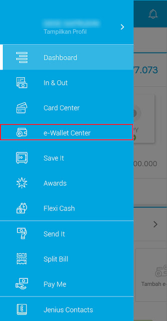 e-Wallet Center Jenius BTPN