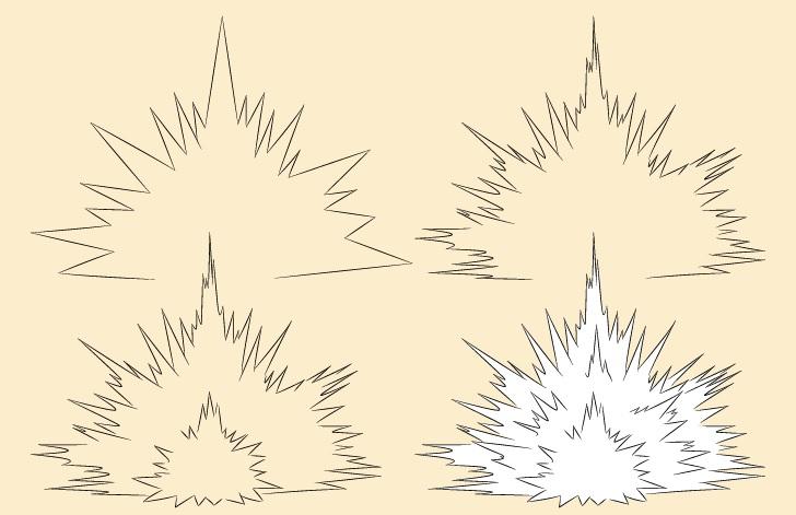 Gambar ledakan ledakan selangkah demi selangkah