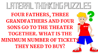 Four Fathers, Three Grandfathers and Four Sons Go to the Theater together. What is the minimum number of tickets they need to buy?