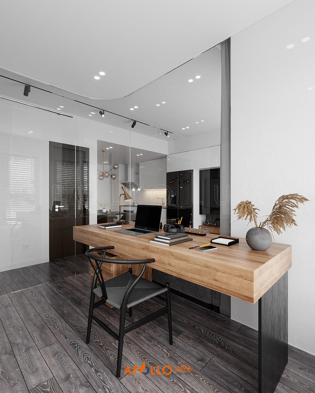 Thiết kế nội thất căn 2PN+1 (63m2) S3.01-15A Vinhomes Smart City Tây Mỗ