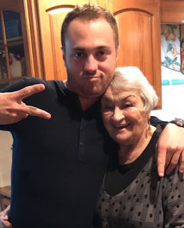 Justin Thomas With His Grandma