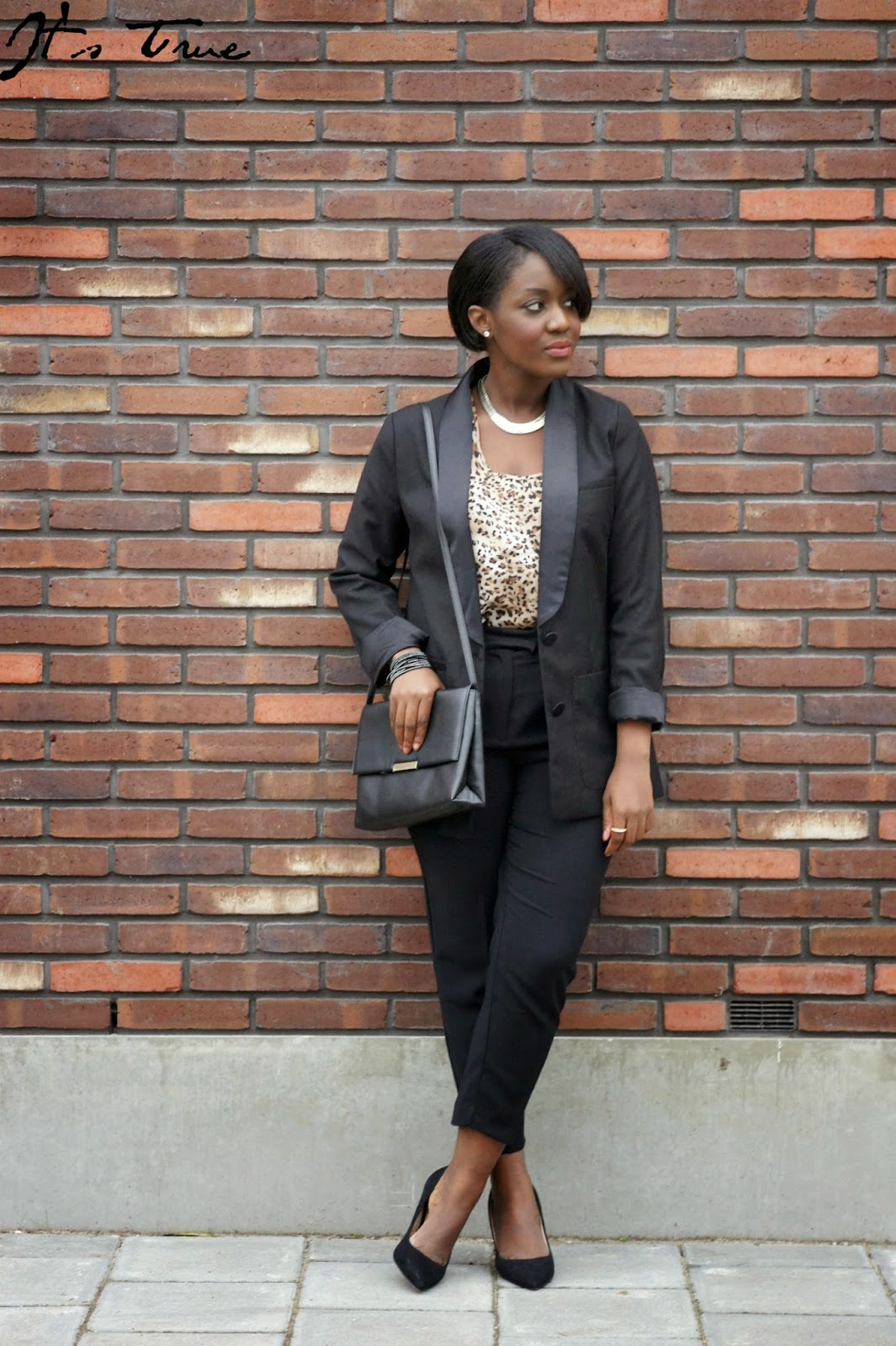 how to style a black blazer
