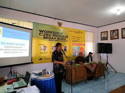 kegiatan workshop penulisan artikel populer di media massa oleh Dinas Arsip dan Perpustakaan Daerah bersama Paradigma Institute Kudus