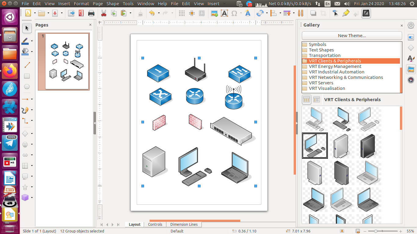 Libreoffice Draw How To Install Network Icons For Diagram