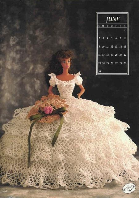 Crochê Barbie - Vestido de Crochê Para Barbie - Miss Junho 1991 capa