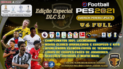 PES 2021 PS5/PS4 Compilation Option File V6 DLC 5.0 by Emerson Pereira