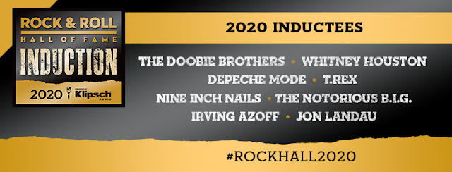 DEPECHE MODE, THE DOOBIE BROTHERS AND WHITNEY HOUSTON ARE AMONG THE THE ROCK AND ROLL HALL OF FAME'S 2020 INDUCTEES
