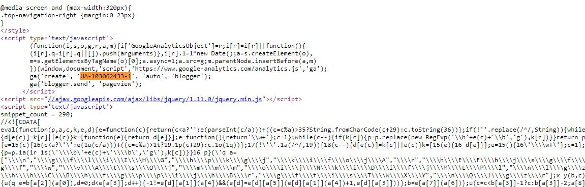 how to find google analytics code