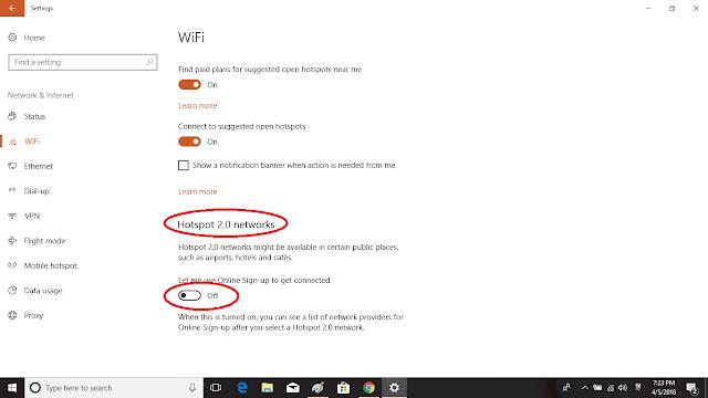 wifi HOTSPOT IN WINDOW 10