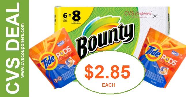 Bounty & Tide Pods CVS PG Deal Only $2.85 - 526-61
