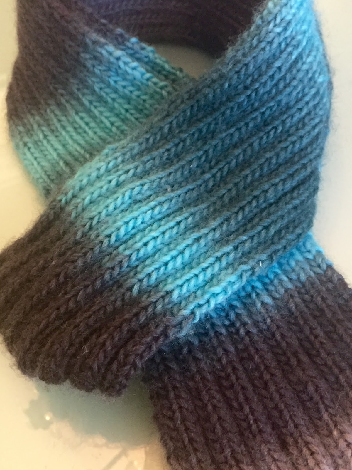 Purl One Knit Two Knit Two Purl Two Rib Scarf