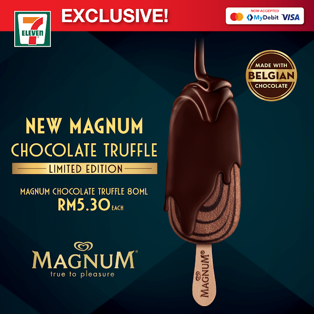 Magnum Chocolate Truffle (80ml) at only RM5.30