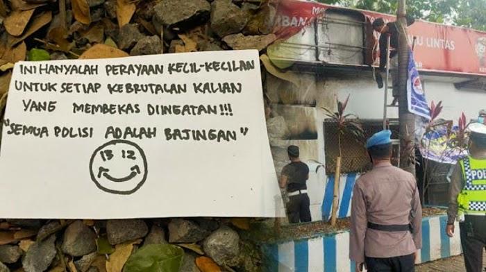 Kantor Polantas Makassar Dilempar Bom Molotov oleh Orang Tak Dikenal