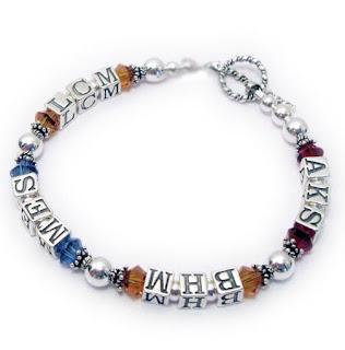 Birthstone Monogram Bracelet