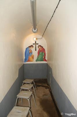 La cappella all'interno del Fort de Schoenenbourg