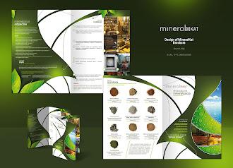 Ekoloji ve mineraller konusunda hazırlanmış üzerinde yaprak resimleri de olan yeşil renkli katalog