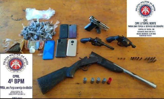 Em confronto com a polícia, quatro suspeitos são mortos em Inhambupe
