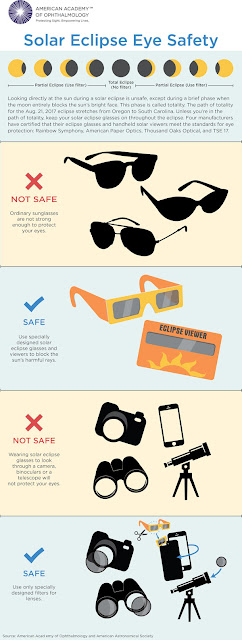 infographic on safe solar eclipse viewing techniques