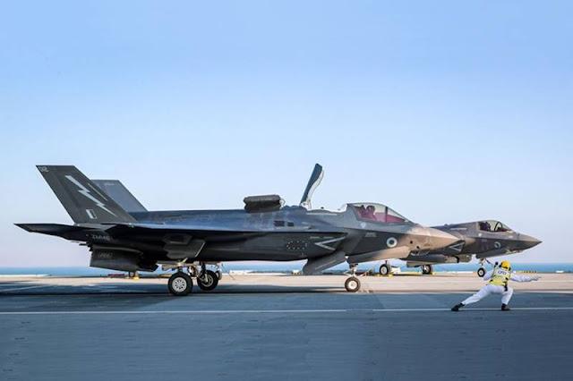 HMS Queen Elizabeth welcomes UK, US F-35B jets for major exercise