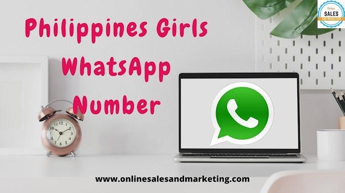 Philippines Girls WhatsApp Number   Girls WhatsApp Number