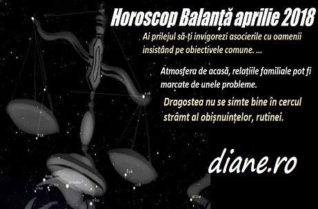 Horoscop aprilie 2018 Balanță